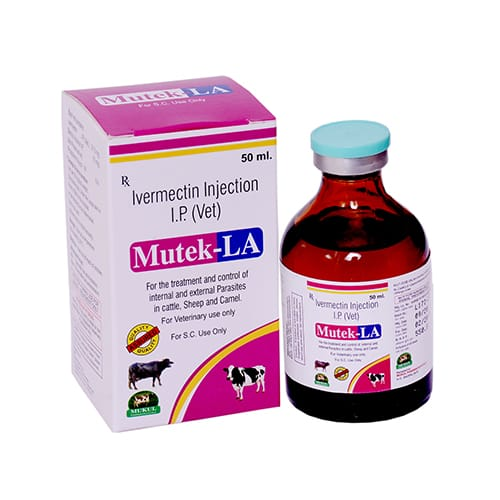 IVERMECTIN IP (VET) (20mg/ml) -50ml Liq. Injection