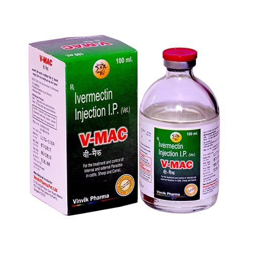 IVERMECTIN  IP (VET) (20mg/ml) -100ml Liq. Injection