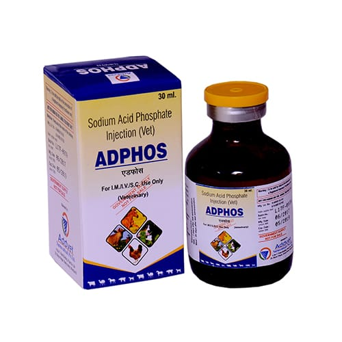 SODIUM ACID PHOSPHATE(40%/ml) -30ml Liq. Injection(Vet.)