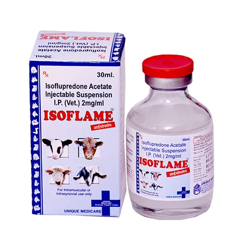 ISOFLUPREDONE ACETATE SUPENSION -30ml Liq. Injection(Vet.)