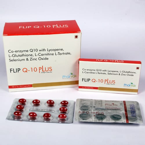 FLIP Q-10 PLUS Soft Gel Capsules