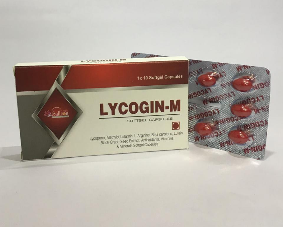 LYCOGIN-M  (Soft Gelatin Cap. Unique Combination, 1st in Market)