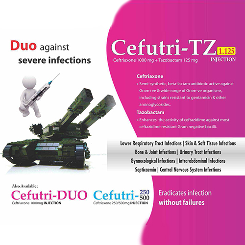 CEFUTRI-TZ 1.125 Injection