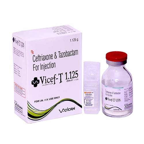CEFTRIAXONE & TAZOBACTAM-1125mg Dry Injection