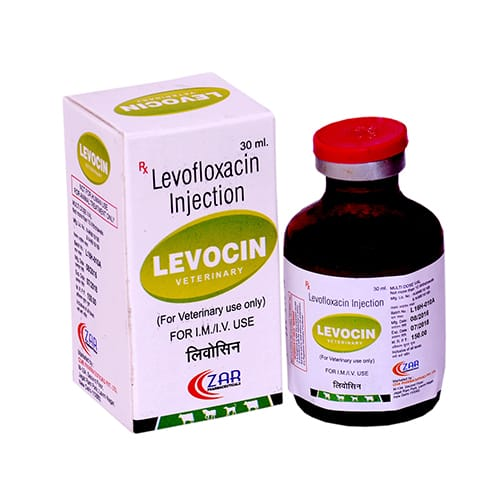 LEVOFLOXACIN (100mg/ml)-30ml Liq.Injection(Vet.)