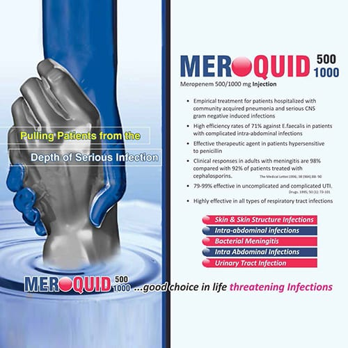 MEROQUID-500/1000mg Injection