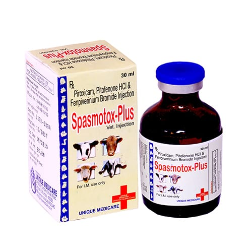 PIROXICAM,PITOFENONE HCL&FENPIVERINIUM BROMIDE-30ml Liq. Injection(Vet.)